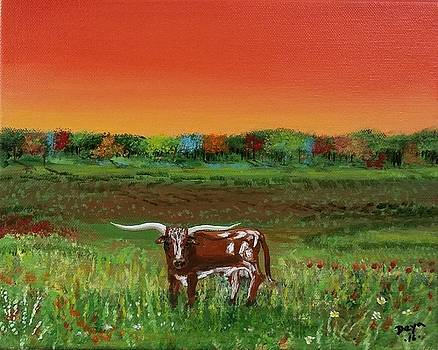 Longhorn of Texas by Deyanira Harris