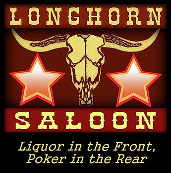 Longhorn Saloon sign by Jodie  Scheller
