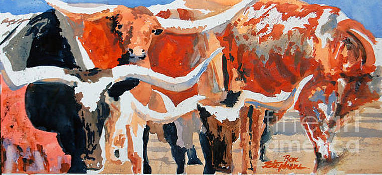 Longhorn Study #3 by Ron Stephens