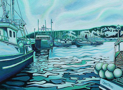 Longliners at LaScie Wharf by Graham Matthews