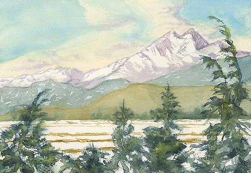 Long's Peak from Longmont by Victoria Lisi