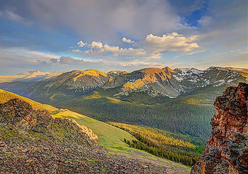 Long's Peak from Rock Cut Trail Ridge Rd. by Fred J Lord