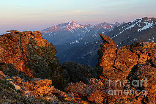 Longs Peak Sunset Rocky Mountain National Park by Steve Boice