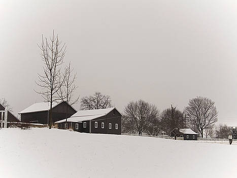 Longstreet Farm Winter by Andrew Kazmierski