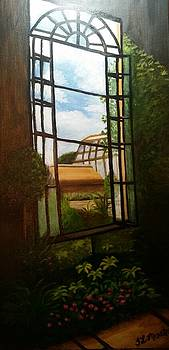 Longwood garden Window  by Tina Mostov