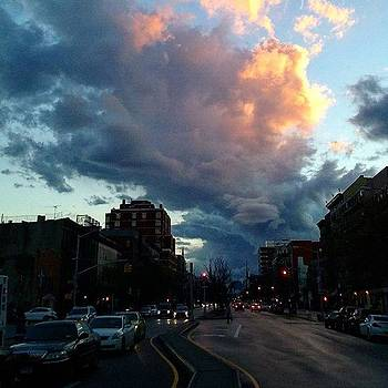 Look At That Cloud Pattern Downtown!! by Christopher M Moll