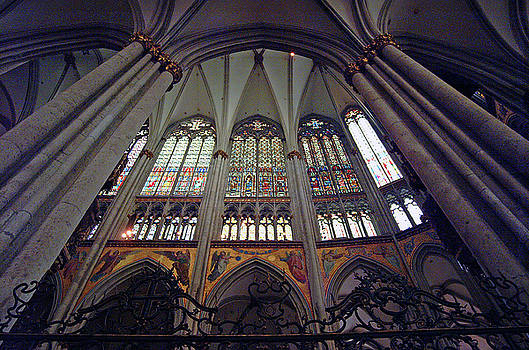 Looking above Altar in Cologne Cathedral Cologne Germany by Paul Pobiak