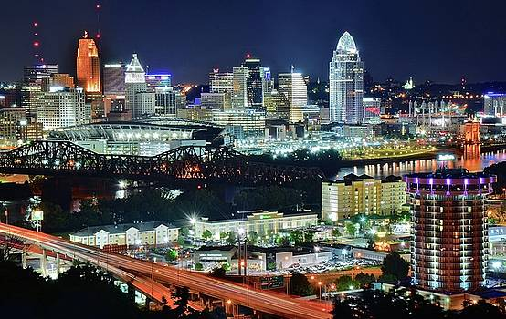 Looking at Cincinnati from the Park by Frozen in Time Fine Art Photography