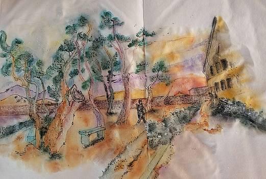 Looking at van Gogh album by Debbi Saccomanno Chan