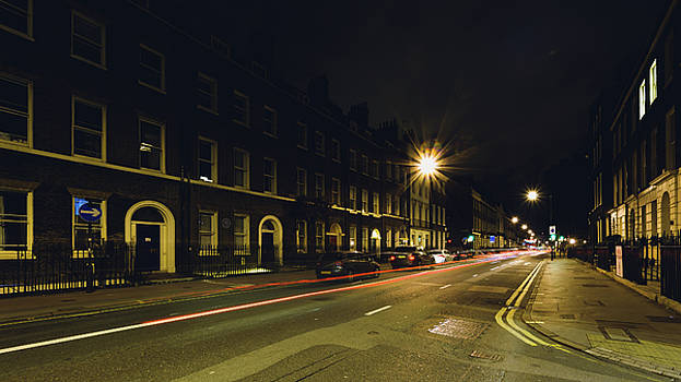 Jacek Wojnarowski - Looking Down Gower Street by night