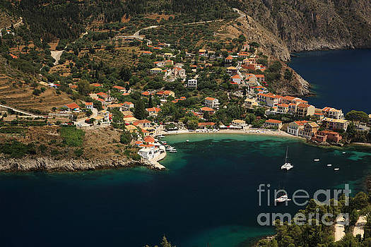 Looking down onto Assos by Deborah Benbrook