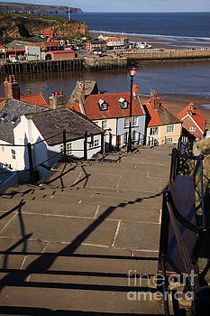 Looking down the 199 steps at Whitby by Deborah Benbrook