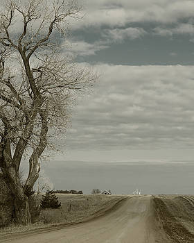 Looking down the Country Road by Art Whitton