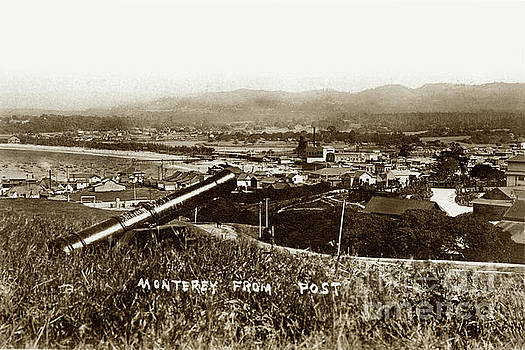 Looking East over Artillery Street From the Presidio of Monterey 1908 by California Views Mr Pat Hathaway Archives