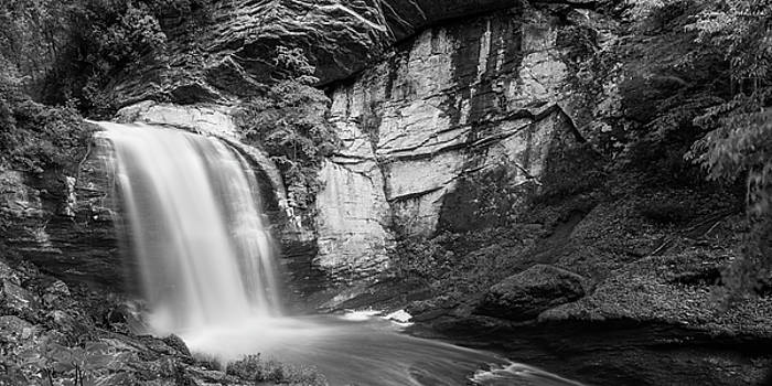 Ranjay Mitra - Looking Glass in Pisgah National Forest Black and White Panorama