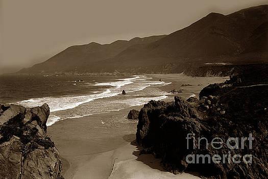 California Views Mr Pat Hathaway Archives - Looking North on Garrapata Beach Big Sur 1928