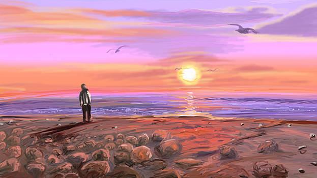 Looking out to sea by Luke Aldington