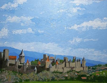 Looking Over Carcassonne by Fred Urron