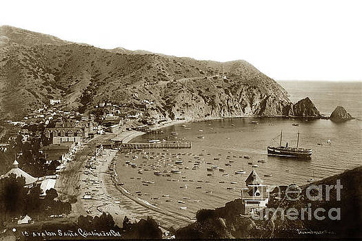 California Views Mr Pat Hathaway Archives -  Looking over Holly Hill House  Avalon Bay, on Catalina Island C 1895