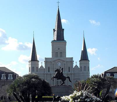 Looking over Jackson Square by Marianne Mason