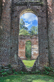 Looking through the Old Sheldon Church by Patricia Schaefer