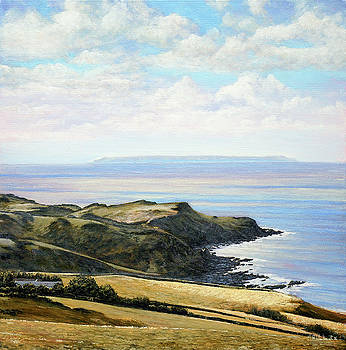 Looking Toward Lundy Island and Lee Bay from Ilfracombe Coast Path by Mark Woollacott
