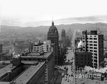 California Views Mr Pat Hathaway Archives - Looking up Market Street to Twin Peaks 1915
