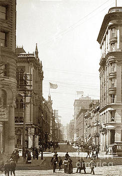 California Views Mr Pat Hathaway Archives - Looking up Montgomery streets, San Francisco Circa 1900