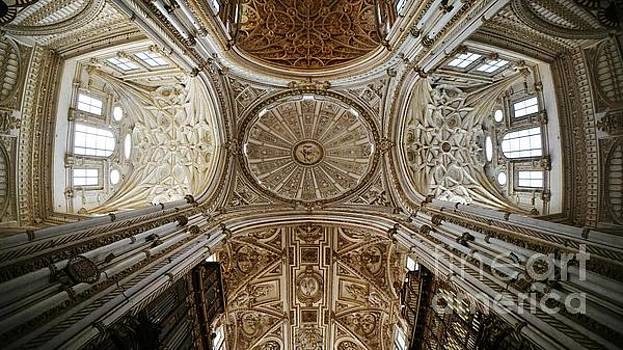 Looking UP within Cordoba's Mezquita by Tony Lee