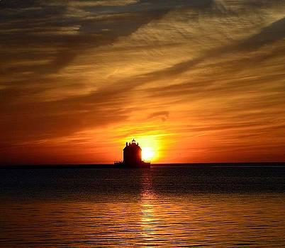 Lorain Lighthouse by J Austin