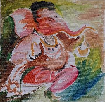 Lord Ganesha Says A Walk Is Good For Health by Chintaman Rudra