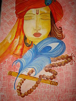 Lord Krishna in Meditation by Seema Sharma