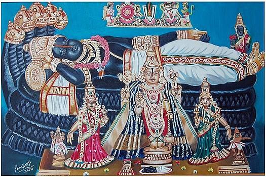 Lord Ranganathar In Recling Position by Sankaranarayanan
