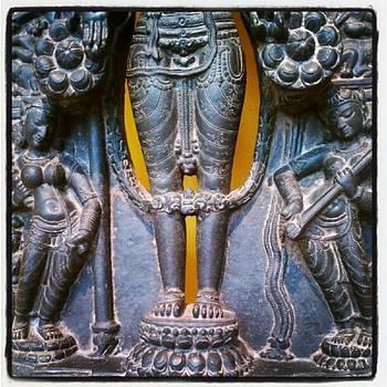 Lord Vishnu With Lakshmi And Sarasvati by Tammy Winand