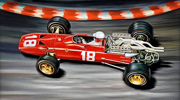Lorenzo Bandini Ferrari F-1 by David Kyte