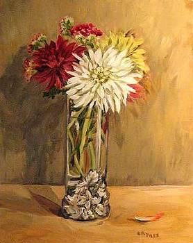 Lori's Vase with Dahlias by Cheryl Pass