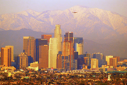 Los Angeles and the San Gabriel Mountains by James Kirkikis