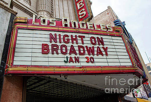 Gregory Dyer - Los Angeles Palace Theater Theater Marquee