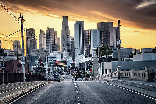 Los Angeles Skyline by Steven Michael
