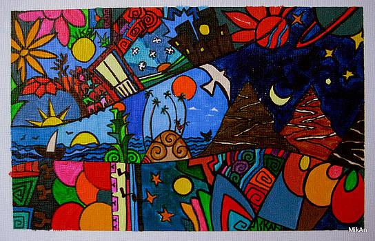 Los Caminos de Colores by MikAn 'sArt