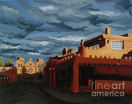Los Farolitos,The Lanterns, Santa Fe, NM by Erin Fickert-Rowland
