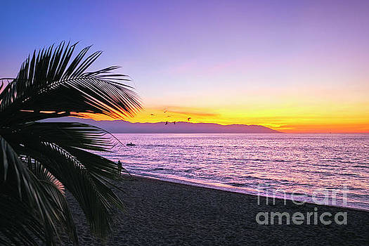 Los Muertos Beach Sunset by George Oze