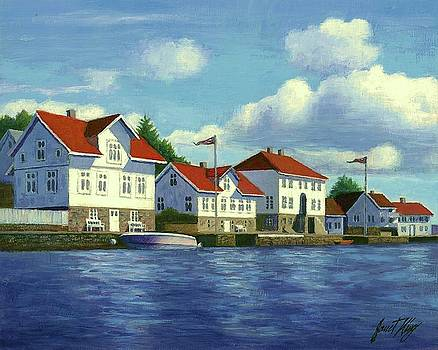 Loshavn village Norway by Janet King