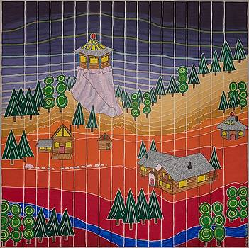 Lost Creek Lodge with Sun Temple by Jesse Jackson Brown