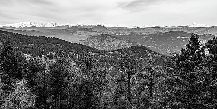 Lost Gulch Overlook In Black And White by Michael Putthoff
