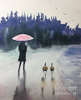 Walk In The Rain by Yohana Knobloch