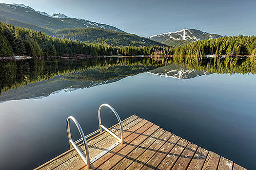 Lost Lake morning Sunlight by Pierre Leclerc Photography