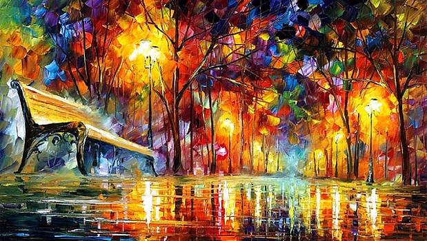 Lost Love - PALETTE KNIFE Oil Painting On Canvas By Leonid Afremov by Leonid Afremov
