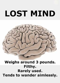 Larry Lamb - Lost mind poster