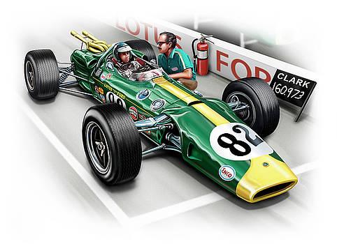 Lotus 38 Indy 500 Winner 1965 by David Kyte